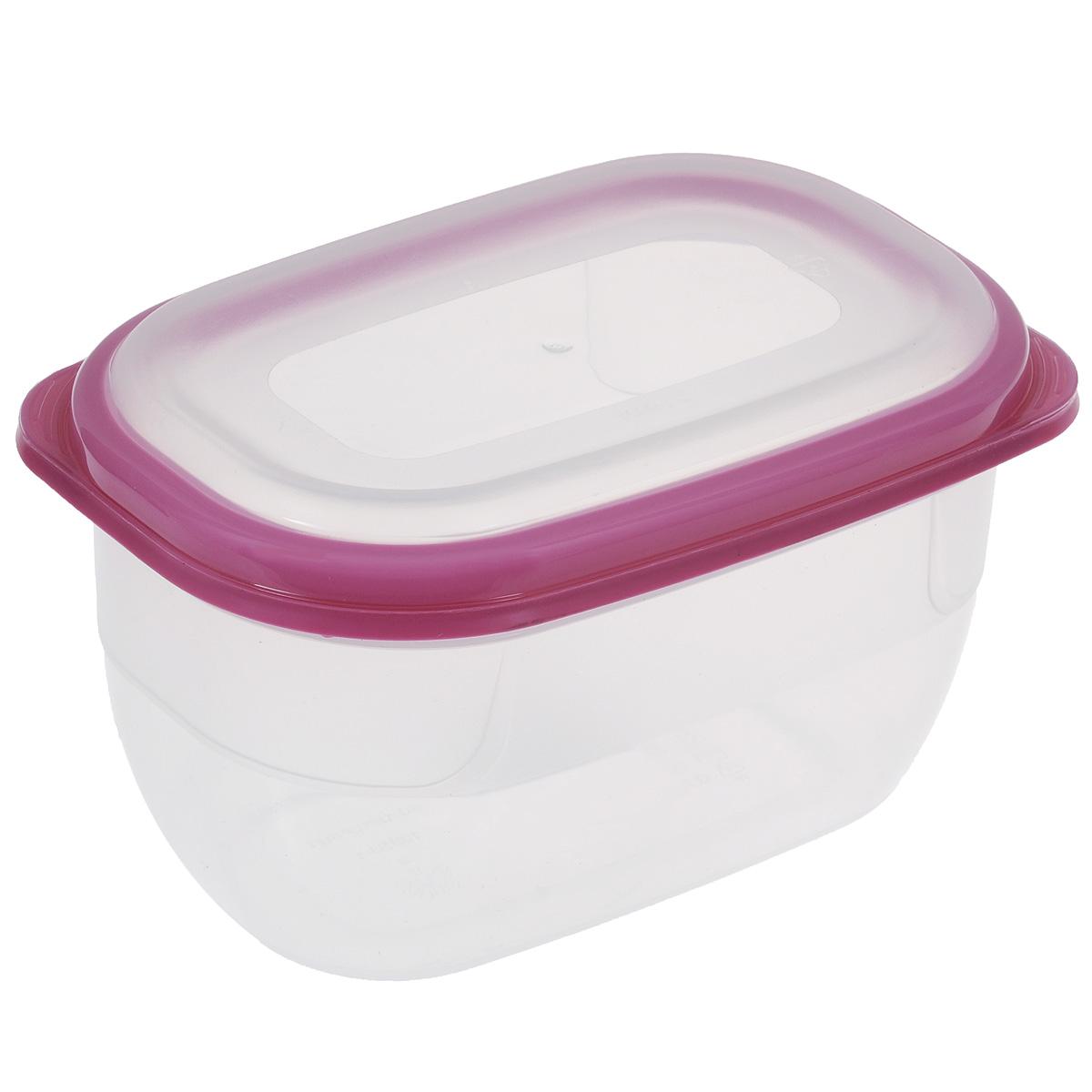 Контейнер для СВЧ Полимербыт Премиум, цвет: прозрачный, розовый, 750 млС561Контейнер Полимербыт Премиум прямоугольной формы, изготовленный из прочного пластика, предназначен специально для хранения пищевых продуктов. Крышка легко открывается и плотно закрывается. Контейнер устойчив к воздействию масел и жиров, легко моется. Прозрачные стенки позволяют видеть содержимое. Контейнер имеет возможность хранения продуктов глубокой заморозки, обладает высокой прочностью. Можно мыть в посудомоечной машине. Контейнер подходит для использования в микроволновой печи без крышки, а также для заморозки в морозильной камере.