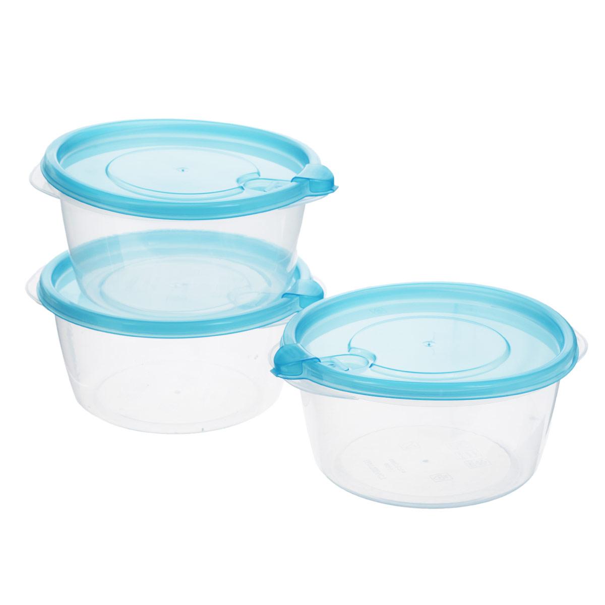 Комплект контейнеров для хранения продуктов Бытпласт Фрэш, 0,75 л, 3 шт. С11522VT-1520(SR)Контейнеры Бытпласт Фрэш предназначены для хранения пищевых продуктов и не только. Они выполнен из высококачественного полипропилена и не содержат Бисфенол А. Крышка легко и плотно закрывается. Контейнер устойчив к воздействию масел и жиров, легко моется. Подходит для использования в микроволновых печах, выдерживает хранение в морозильной камере при температуре -24 градуса.Пищевые контейнеры необыкновенно удобны: в них можно брать еду на работу, за город, ребенку в школу. Именно поэтому они обретают все большую популярность.