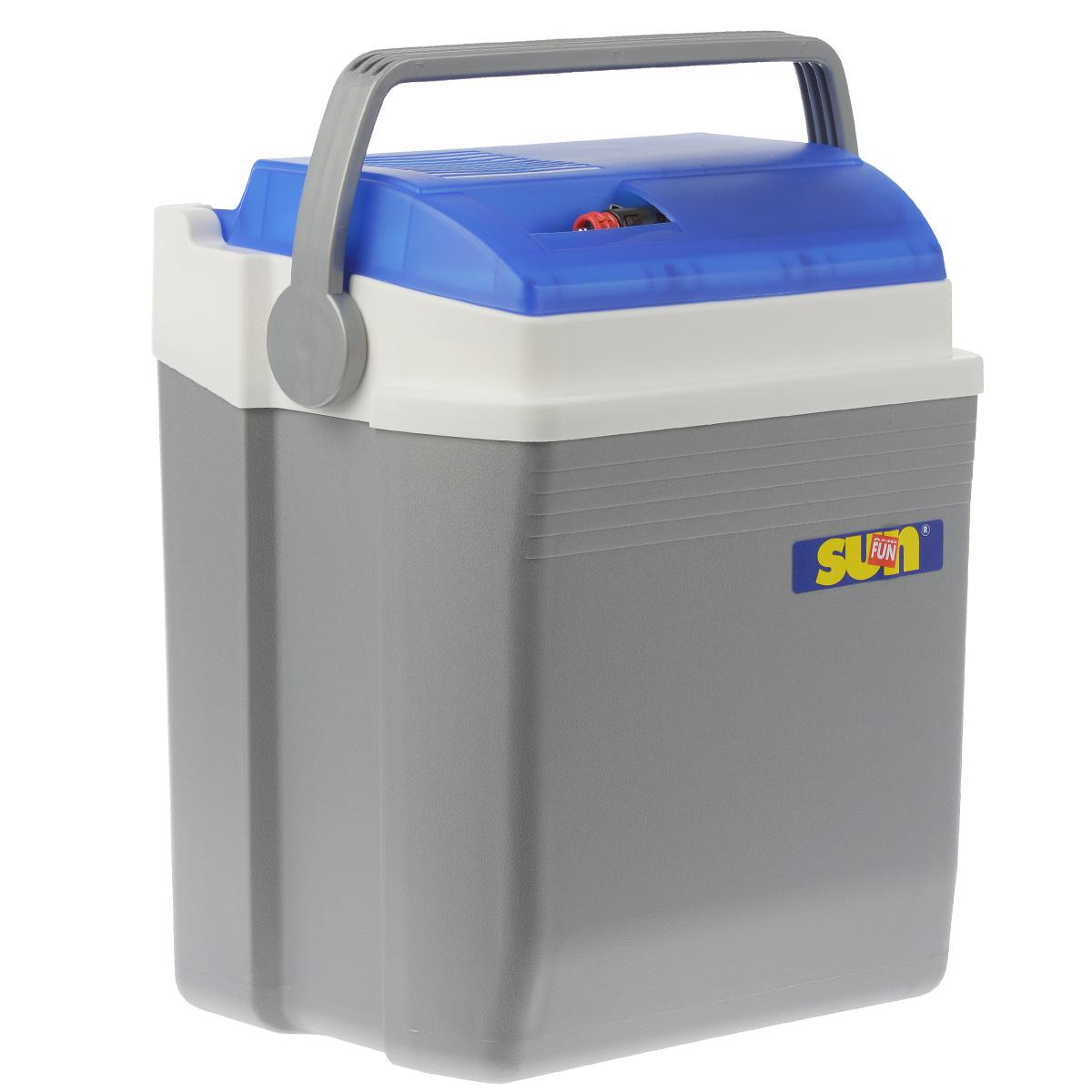 Автомобильный холодильник Ezetil E, цвет: голубой, серый, 21 л10775036Малогабаритный электрический холодильник Ezetil E предназначен для хранения и транспортировки предварительно охлажденных продуктов и напитков. Контейнер удобно использовать в салоне автомобиля в качестве портативного холодильника. Он легко поместится в любой машине! Особенности автомобильного холодильника Ezetil E: - Выполнен из прочного пластика высокого качества; - Работает от бортовой сети автомобиля 12В или от сети переменного тока 220В; - Внутри контейнера имеется вместительный отсек для хранения продуктов и напитков; - Подходит для хранения 1,5-литровых бутылок в вертикальном положении; - Крышка холодильника открывается одной рукой; - Встроенный вентилятор, изоляция из пеноматериала и отсек для хранения шнура питания от сети и штекера прикуривателя (12В) вмонтирован в крышку; - Дополнительный внутренний вентилятор в холодильной камере обеспечивает быстрое и равномерное охлаждение; - Мощная, не нуждающаяся в...