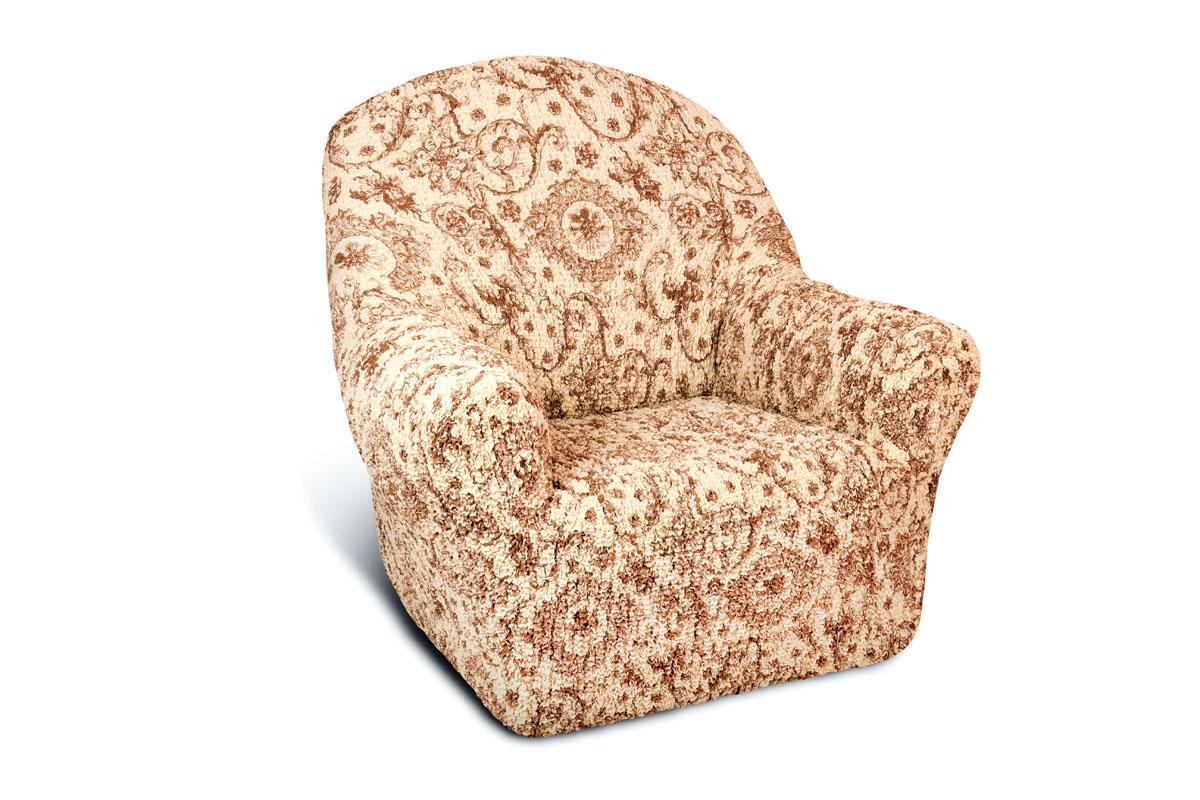 Чехол на кресло Еврочехол Виста Флоренция, 60-100 см54 009303Чехол на кресло Еврочехол Виста Флоренция выполнен из 50% хлопка, 50% полиэстера. Он идеально подойдет для тех, кто хочет защитить свою мебель от постоянных воздействий. Этот чехол, благодаря прочности ткани, станет идеальным решением для владельцев домашних животных. Кроме того, состав ткани гипоаллергенен, а потому безопасен для малышей или людей пожилого возраста. Такой чехол отлично впишется в любой интерьер. Еврочехол послужит не только практичной защитой для вашей мебели, но и приятно удивит вас мягкостью ткани и итальянским качеством производства. Растяжимость чехла по спинке (без учета подлокотников): 60-100 см.