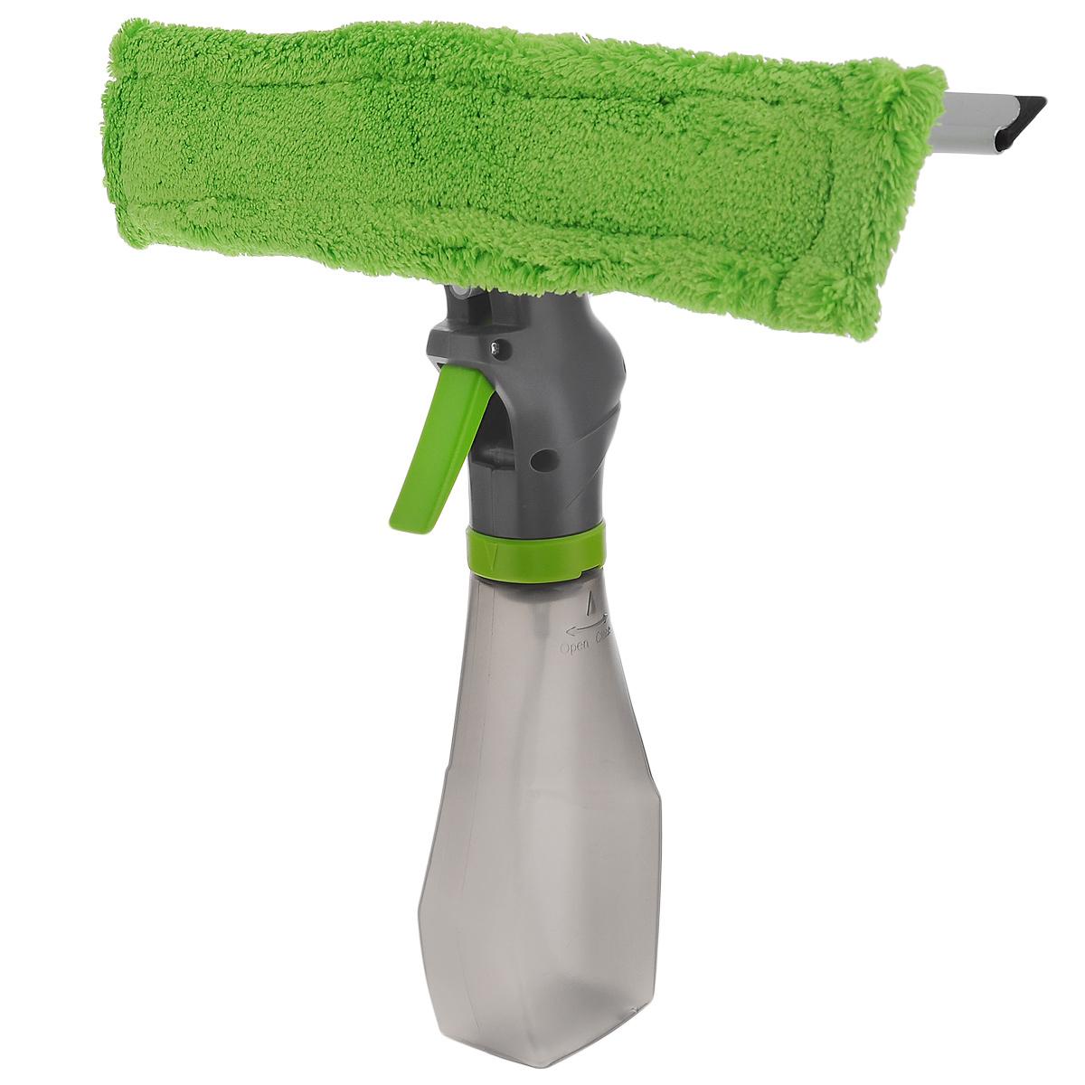 Стеклоочиститель Flatel, с распылителем и насадкой из микрофибрыES1352Стеклоочиститель Flatel, с распылителем и насадкой из микрофибры состоит из 3 частей: водосгона, насадки из микрофибры, емкости для жидкости. Прекрасно подойдет для влажной и сухой уборки - моет и полирует без разводов. Насадка из микрофибры чистит сильные загрязнения даже без моющих средств, а водосгон хорошо удаляет воду и пар. Стеклоочиститель подходит для домашнего использования, например, для мытья стекол, зеркал, душевых кабин, керамической плитки и уборки автомобиля. Насадка из микрофибры крепится на крепких липучках. Ее можно стирать в стиральной машине при температуре 60°C или вручную. Стеклоочиститель оснащен удобной емкостью, которая позволяет дозировать нужное количество воды или моющего средства. Длина водосгона: 25 см. Длина насадки из микрофибры: 26 см. Объем емкости: 250 мл.
