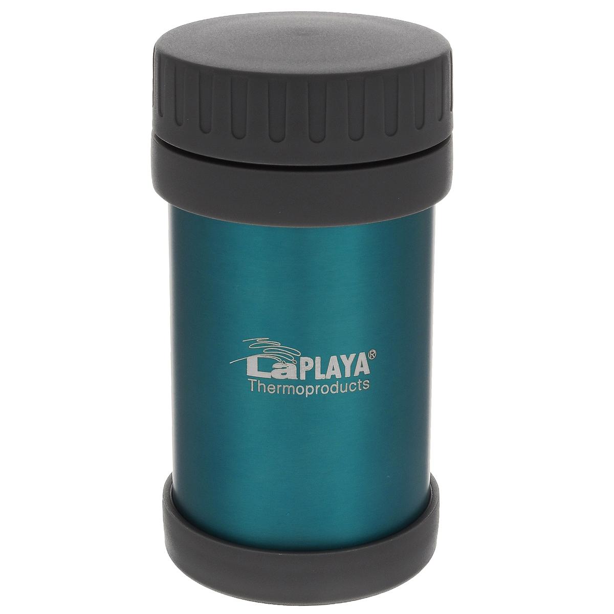 Термос LaPlaya JMG, цвет: бирюзовый, 500 мл560031Термос LaPlaya JMG изготовлен из высококачественной нержавеющей стали 18/8 и пластика. Термос с двухстеночной вакуумной изоляцией, предназначенный для хранения горячих и холодных продуктов, сохраняет их до 6 часов горячими и холодными в течении 8 часов. Термос очень легкий, имеет широкое горло и закрывается герметичной крышкой. Идеально подходит для напитков, а также первых и вторых блюд. Высота: 16,5 см. Диаметр горлышка: 7 см.
