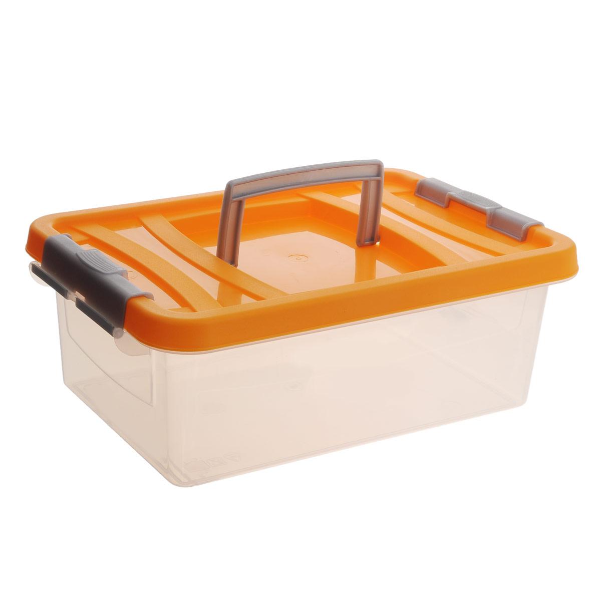 Контейнер для пищевых продуктов Martika, цвет: прозрачный, оранжевый, 6 лС205ПКонтейнер Martika прямоугольной формы предназначен специально для хранения пищевых продуктов. Устойчив к воздействию масел и жиров, легко моется. Крышка легко открывается и плотно закрывается. Имеются удобные ручки. Прозрачные стенки позволяют видеть содержимое. Контейнер имеет возможность хранения продуктов глубокой заморозки, обладает высокой прочностью. Контейнер необыкновенно удобен: его можно брать на пикник, за город, в поход. Можно мыть в посудомоечной машине.