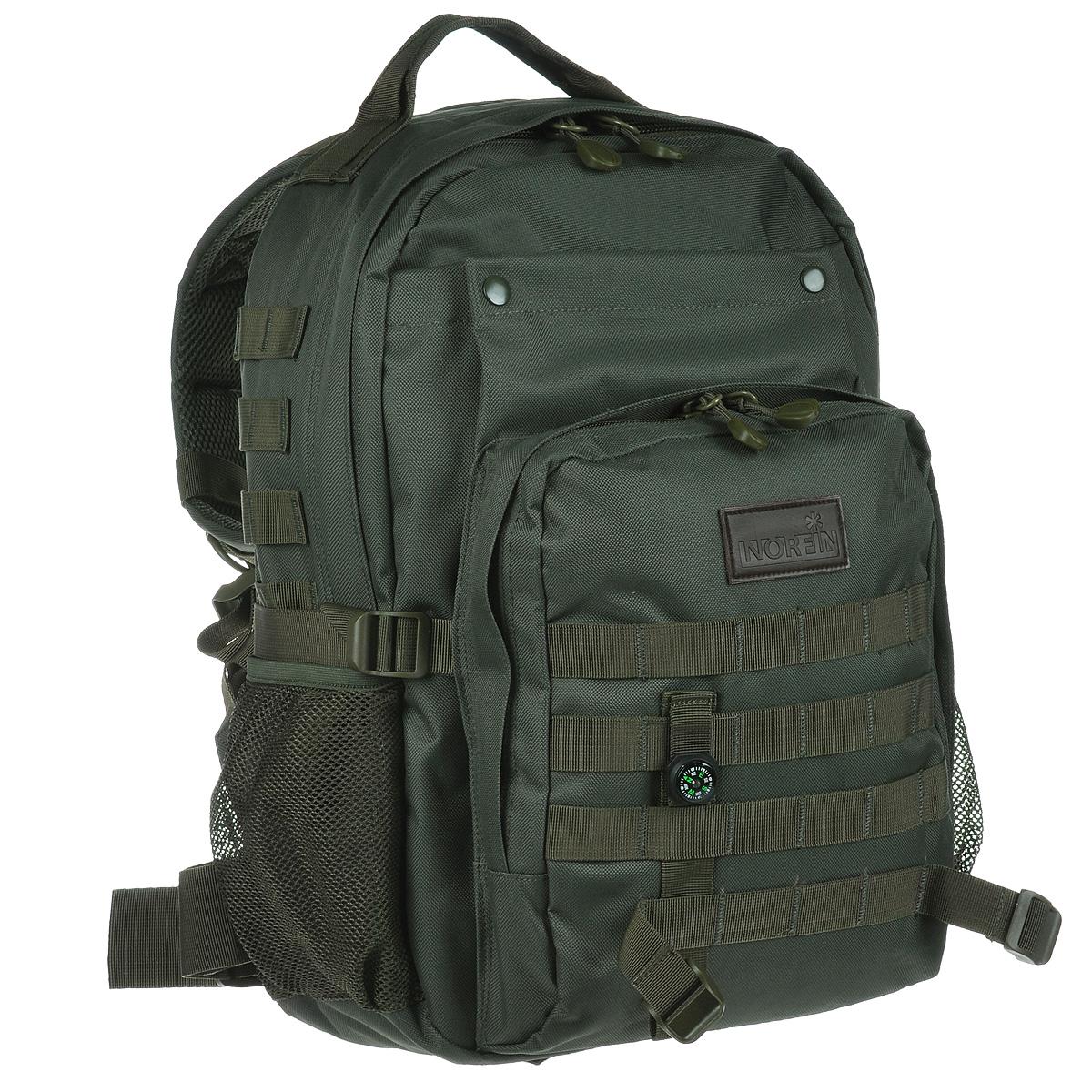 Рюкзак городской Norfin Tactic, цвет: зеленый, 30 лZ90 blackГородской тактический рюкзак Norfin Tactic выполнен из прочного полиэстера. Благодаря многофункциональности данный рюкзак позволяет удобно и легко укладывать свои вещи.Особенности рюкзака:Спинка имеет три рабочие зоны с сеткой Air Mesh, хорошо отводится избыточное тепло и влага при нагрузкахАнатомические лямки. Слой пены и сетки Air Mesh Поясной ременьБольшой фронтальный карманФронтальный карман на молнии с органайзером Два боковых карманаВнутренний карман для ноутбукаВнутренний сетчатый карман.