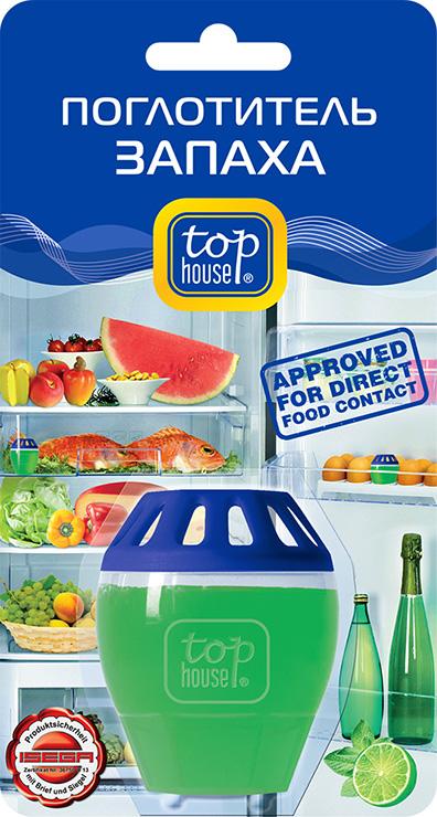 Поглотитель запаха в холодильнике Top House Лайм391855Поглотитель запаха в холодильнике Top House Лайм специально разработан по новейшей технологии. - Удаляет все неприятные запахи в холодильнике. - Эффективно действует не менее 2-х месяцев. - Удобен в использовании (можно поместить в ячейку для яиц). - Не меняет вкус и запах продуктов, хранящихся в холодильнике. - 1 поглотитель эффективен на объем холодильной камеры до 200 литров. - Безопасность использования поглотителя запаха в холодильнике с продуктами питания протестирована в Германии ISEGA - Forschungs - und Untersuchungs - Gesellschaft mbH Aschaffenburg и подтверждена сертификатом соответствия. - Подходит для применения в автомобилях, гардеробах, шкафчиках для обуви. Состав: более 30% вода; менее 5%: неионные ПАВ, загуститель, поглотитель запаха; консервант, ароматизатор, краситель. Товар сертифицирован.