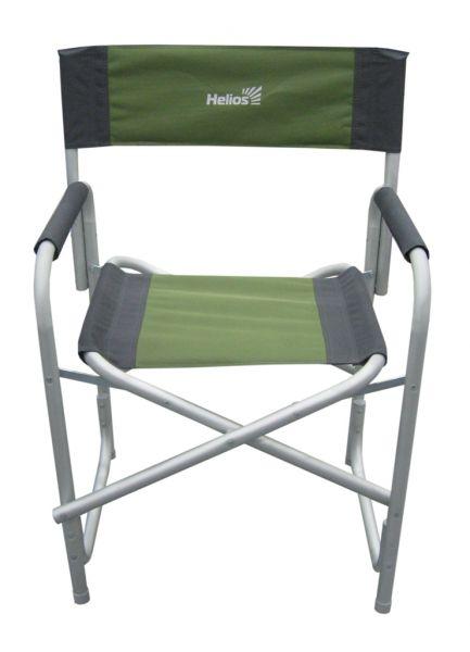 Кресло складное Helios, цвет: серый, зеленый, 47 см х 35 см х 85 см09840-20.000.00Удобное и надежное кресло Helios с жесткой конструкцией гарантирует комфортный отдых на природе. Выполнено из прочного полиэстера. Каркас - алюминиевая труба с порошковым покрытием. В сложенном виде кресло не занимает много места.