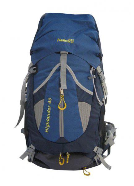 Рюкзак Helios Highlander, цвет: серый, синий, 40 лTB789-40LHelios Highlander - это рюкзак классического дизайна для разных областей применения (от однодневного похода до многодневной экспедиции). Рюкзак эффективно разгружает плечи, перемещая вес груза на бедра. Выполнен из полиэстера с плетением Diamond RipStop и Dobby, водоотталкивающее покрытие PU. Конструктивные особенности: Система подвески с вентиляцией спины. Поясной ремень и грудная стяжка. Большой U-образный вход в основное отделение. Фронтальный карман. Боковые карманы из сетки. Совместим с питьевой системой. Чехол-дождевик в кармане на дне.