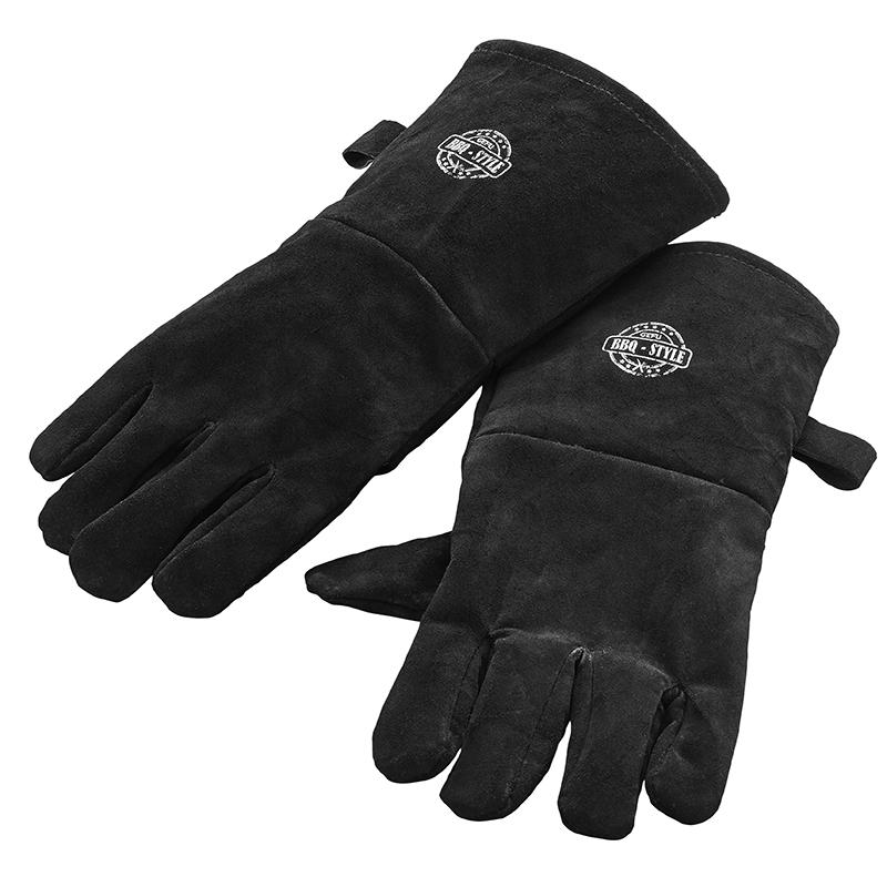 Перчатки для гриля Gefu, цвет: черный. 8924689246Перчатки для гриля Gefu изготовлены из высококачественной замши, которая обеспечивает защиту и надежное удержание даже скользких поверхностей. Такие перчатки станут идеальным подарком для мужчин!