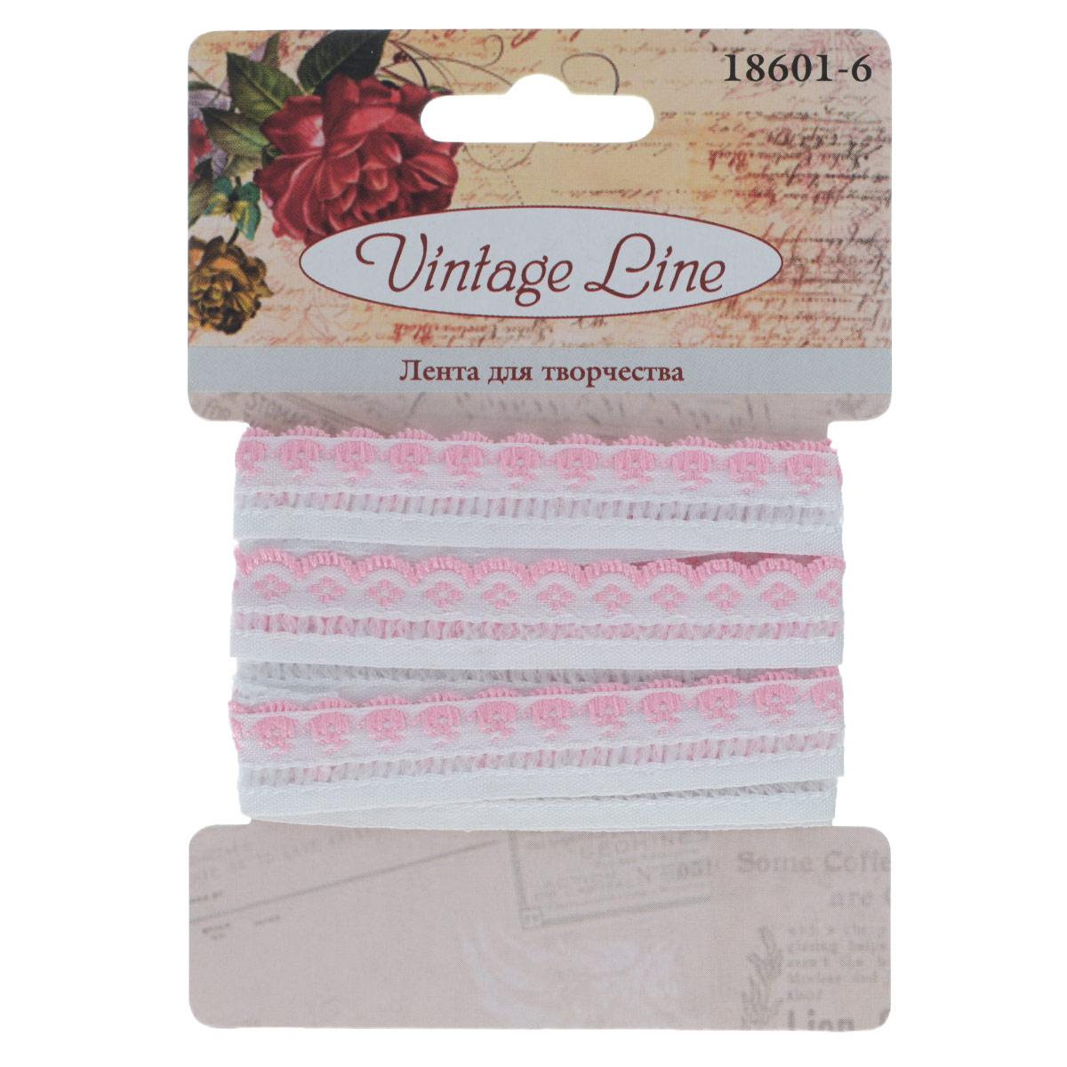 Лента декоративная Vintage Line, цвет: белый, розовый, 1,2 см х 150 см. 77096547709654Декоративная лента Vintage Line выполнена из текстиля и оформлена вышивкой. Такая лента идеально подойдет для оформления различных творческих работ таких, как скрапбукинг, аппликация, декор коробок и открыток и многое другое. Лента наивысшего качества практична в использовании. Она станет незаменимым элементом в создании рукотворного шедевра. Ширина: 1,2 см. Длина: 1,5 м.