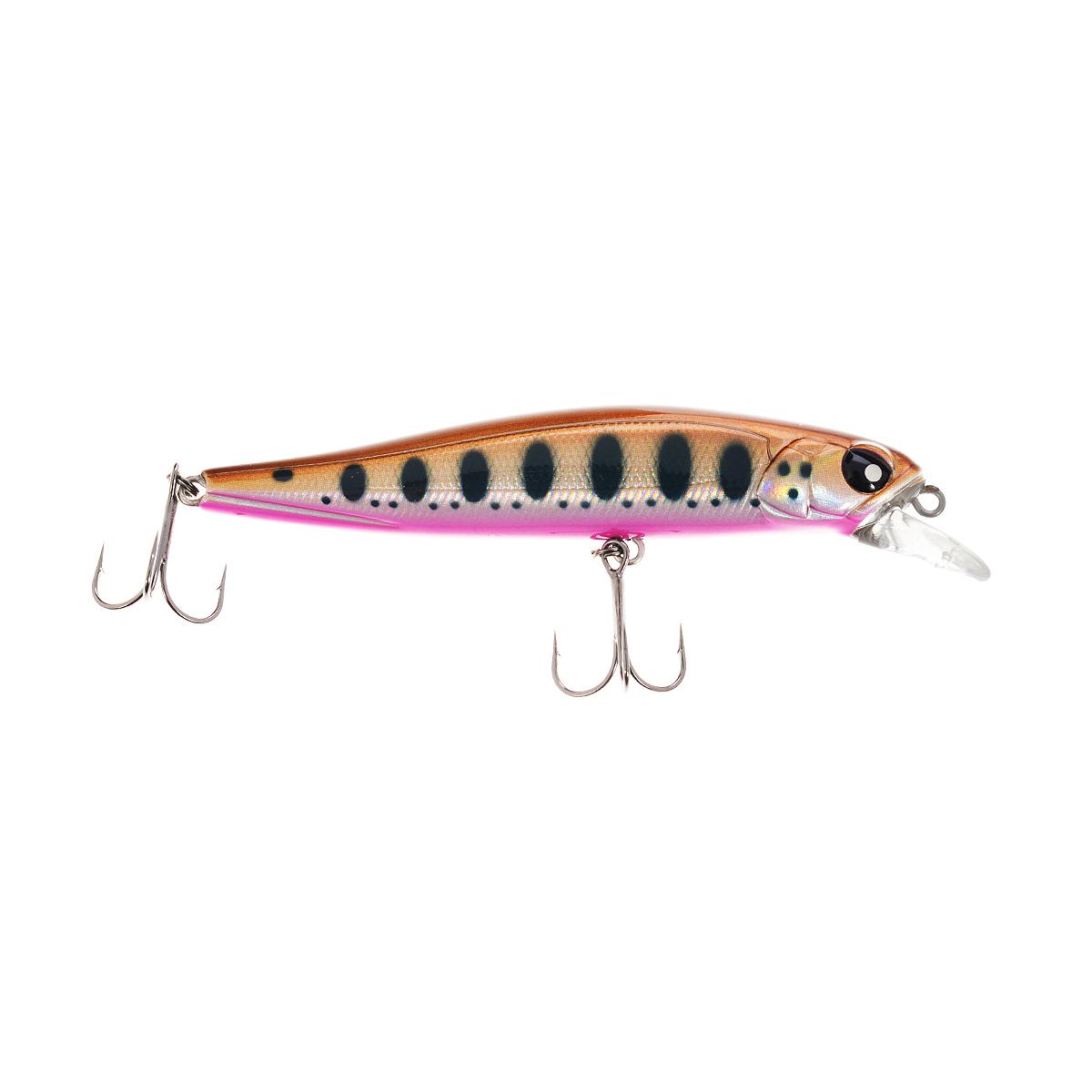 Воблер плавающий Lucky John Basara, цвет: коричневый, черный, розовый, 9 см, 10 г06/4/07Lucky John Basara - прогонистый воблер класса твичбейт. Это плавающая приманка с увеличенной лопастью заглубления (LBF). Благодаря системе MCS, воблер обладает превосходными полетными характеристиками и позволяет производить приманкой очень агрессивную проводку. Основной объект ловли: любая хищная рыба.