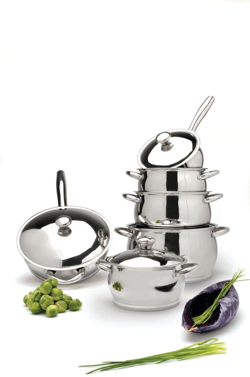 BergHOFF Набор посуды из нержавеющей стали Cosmo 12 пр., цвет: металлик 1112268