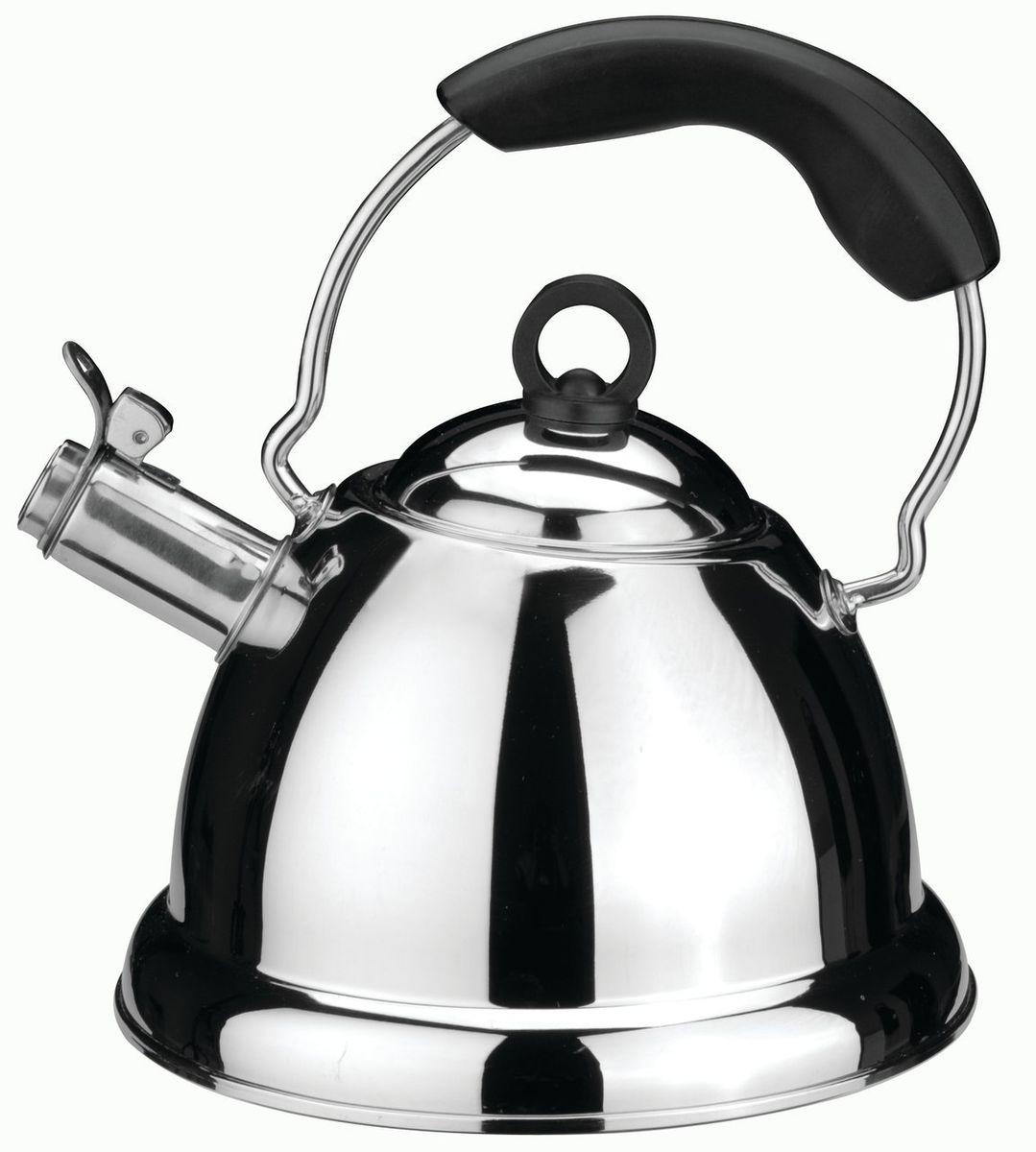 Чайник со свистком Cook&Co 2,5 л , цвет: металлик-черныйCM000001328Чайник со свистком Cook&Co 2,5 л выполнен из нержавеющей стали. Высокоэффективный чайник продуктивно проводит тепло для быстрого закипания. Свисток сообщает о моменте закипания воды. Рекомендуется мыть вручную. Упакован в подарочную коробку. Нержавеющая сталь