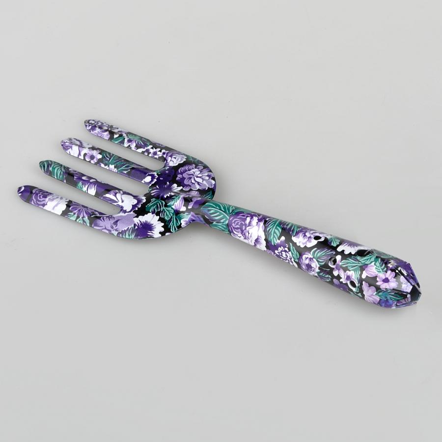 Посадочная вилка L=265 мм (с рисунком фиолетово-белые цветы)