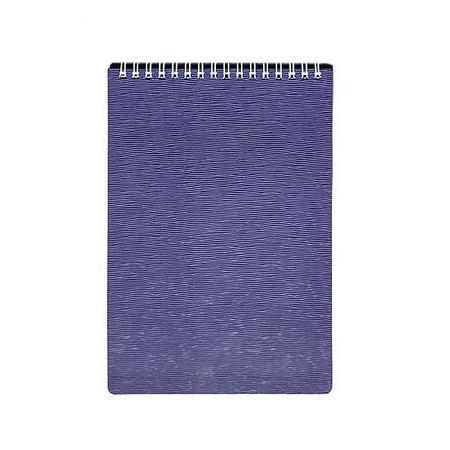 Блокнот 80л А5ф Пластиковая обложка на гребне WOOD Фиолетовый72523WDБлокнот с обложкой из картона, защищающей бумагу от деформации.