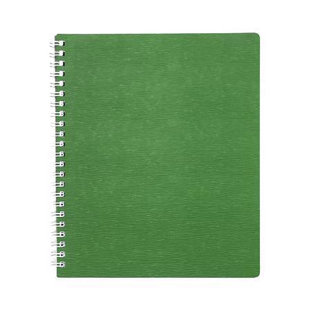 Тетрадь 80л А5ф Пластиковая обложка на гребне WOOD Зеленая80Т5B1гр_02207
