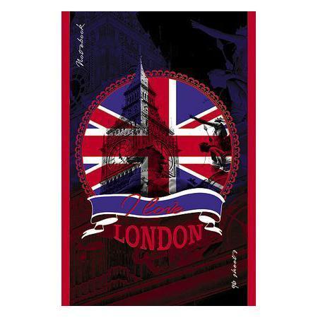 Блокнот 96л А5ф клетка на скобе выб лак LONDON96Б5вмB3_12538Блокнот с обложкой из картона, защищающей бумагу от деформации.