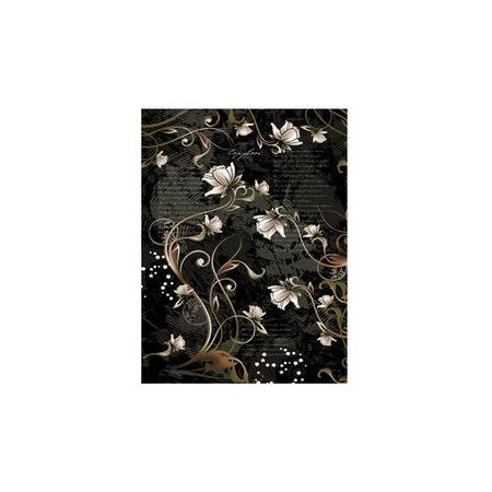 HD Тетрадь с твердой обложкой 96л А4ф Класс A на спирали мат.пленка с тисн.фольгой Flowers96Тт4фA1сп_09098