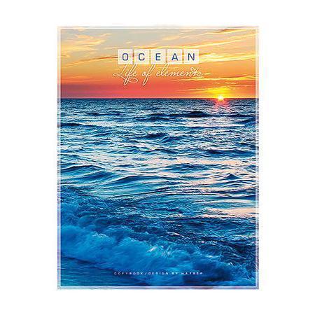 Тетрадь 96л А5ф клетка на скобе серия Океан96Т5B1Тетрадь с обложкой из картона, защищающей бумагу от деформации.