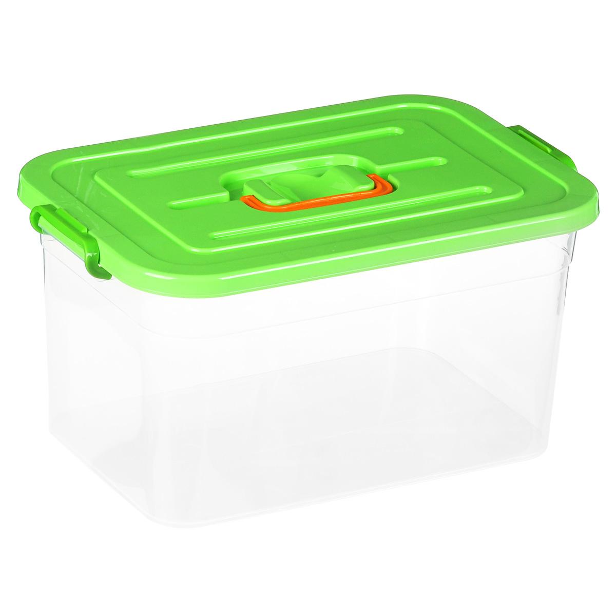 Контейнер для хранения Полимербыт, цвет: зеленый, 15 лС811_зеленыйКонтейнер для хранения Полимербыт выполнен из высококачественного цветного пластика. Контейнер снабжен удобной ручкой и двумя пластиковыми фиксаторами по бокам, придающими дополнительную надежность закрывания крышки. Вместительный контейнер позволит сохранить различные нужные вещи в порядке, а герметичная крышка предотвратит случайное открывание, защитит содержимое от пыли и грязи. Объем: 15 л.
