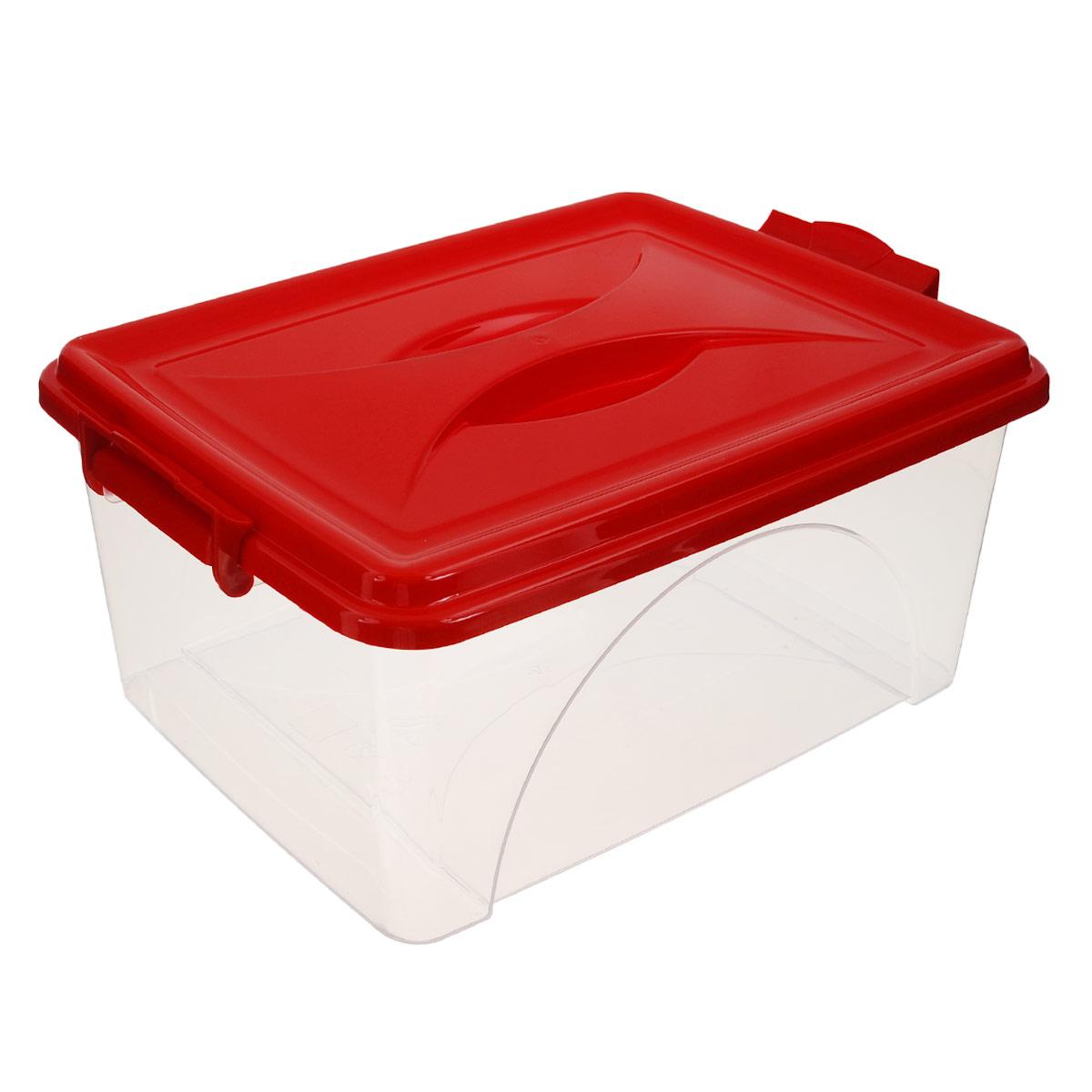 Контейнер Альтернатива, цвет: красный, 11,5 лМ425Контейнер Альтернатива выполнен из прочного пластика. Он предназначен для хранения различных мелких вещей. Крышка легко открывается и плотно закрывается. Прозрачные стенки позволяют видеть содержимое. По бокам предусмотрены две удобные ручки, с помощью которых контейнер закрывается. Контейнер поможет хранить все в одном месте, а также защитить вещи от пыли, грязи и влаги.