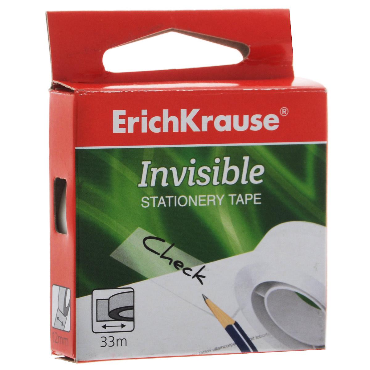 """Клейкая лента Erich Krause """"Invisible"""", цвет: белый 36924"""