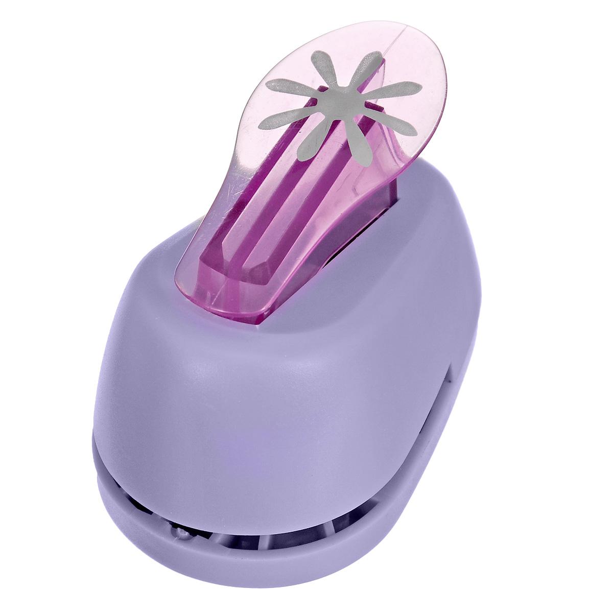 """Дырокол фигурный Hobbyboom """"Цветок 8 лепестков"""", №336, цвет: сиреневый, 2,5 см CD-99M-336"""