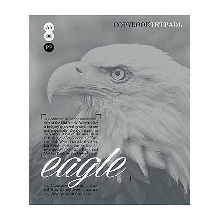Тетрадь 96л А5ф клетка на скобе серия Тайны природы, цвет: серый EagleSMA510-V8-ETТетрадь 96л А5ф клетка на скобе серия Тайны природы, цвет: серый Eagle