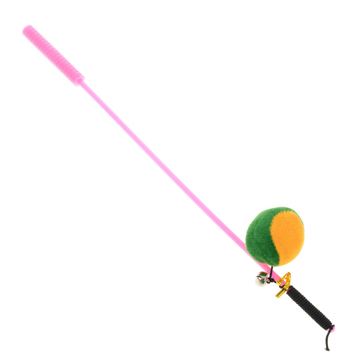 Дразнилка-удочка для кошек V.I.Pet Мяч, цвет: розовыйST-107Дразнилка-удочка для кошек V.I.Pet Мяч, изготовленная из текстиля и пластика, прекрасно подойдет для веселых игр вашего пушистого любимца. Играя с этой забавной дразнилкой, маленькие котята развиваются физически, а взрослые кошки и коты поддерживают свой мышечный тонус. Яркая игрушка на конце удочки сразу привлечет внимание вашего любимца, не навредит здоровью и увлечет его на долгое время. Длина удочки: 37 см. Размер игрушки: 4 см х 4 см х 3 см.