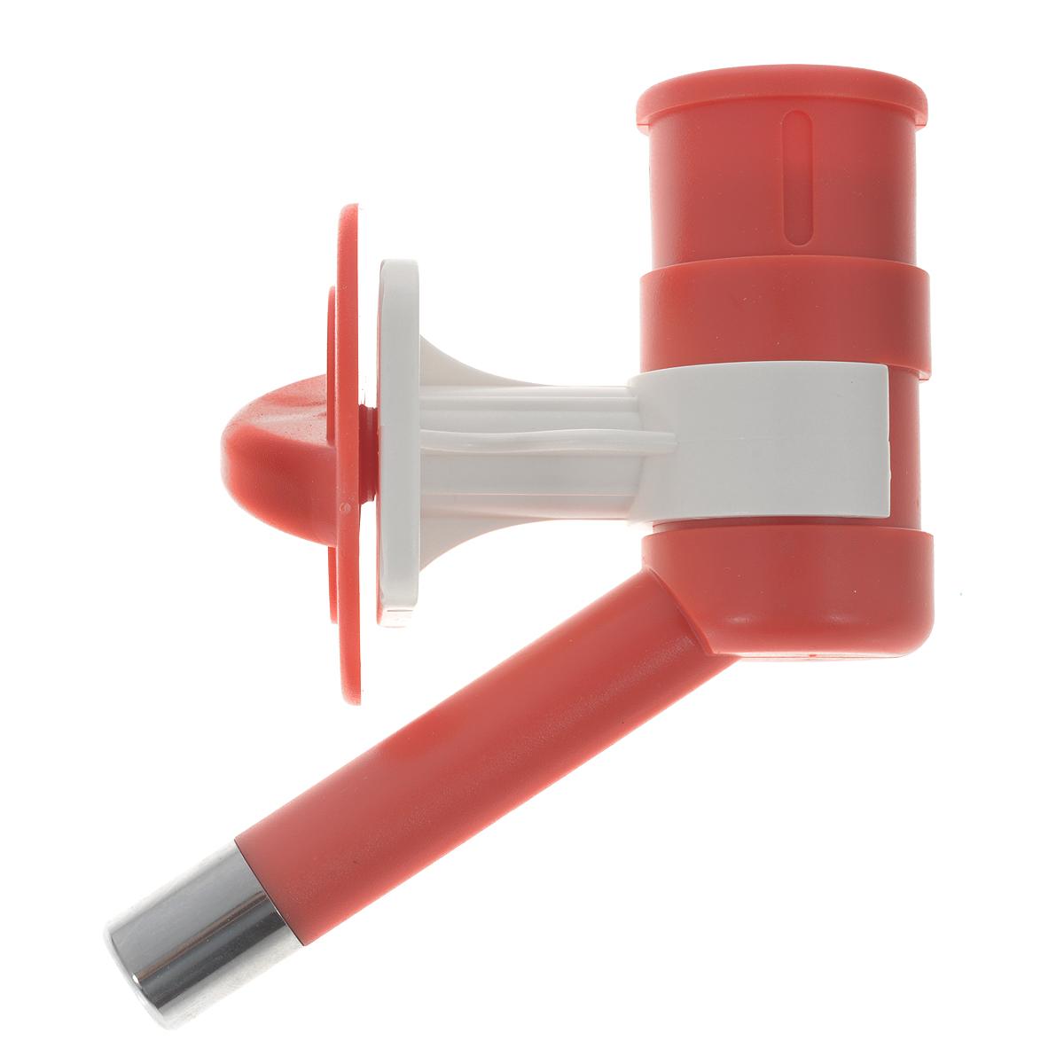 Автопоилка для животных, универсальная, цвет: красный378Автопоилка универсальная с шариковым механизмом, изготовленная из ABS пластика и нержавеющей стали, позволяет получать оптимальные порции жидкости в экономном режиме. Подходит для мелких животных. Автопоилка крепится на клетку. Подходит под любые ПЭТ бутылки.
