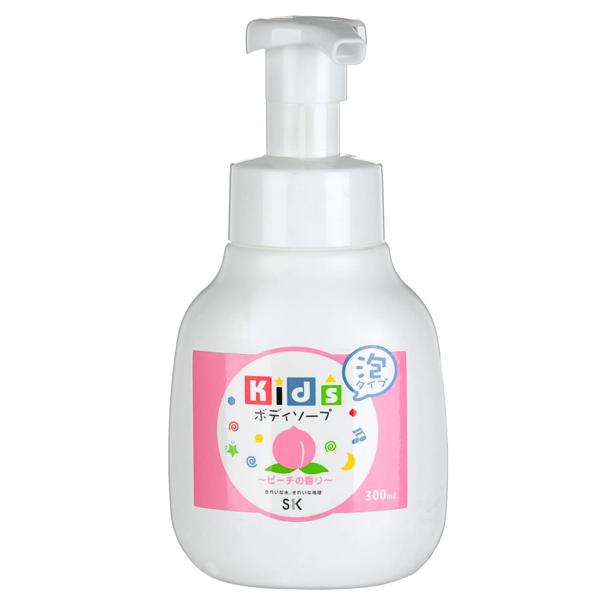 SK Kids Детское пенное мыло для тела с ароматом персика, 300 мл101685Воздушное детское пенное мыло порадует вашего малыша сочным ароматом персика и мыльными пузырьками! Оно очистит детскую кожу и обеспечит полноценный уход за ней. Абсолютно безопасно. Экстракт персика, в составе пенки, увлажнит и окажет противовоспалительное действие на нежную кожу. Не содержит ПАВ, искусственных красителей, ароматизаторов, антиоксидантов, поэтому мыло необходимо хранить в местах, защищенных от прямых солнечных лучей, высокой температуры и влажности. Проверено дерматологами.