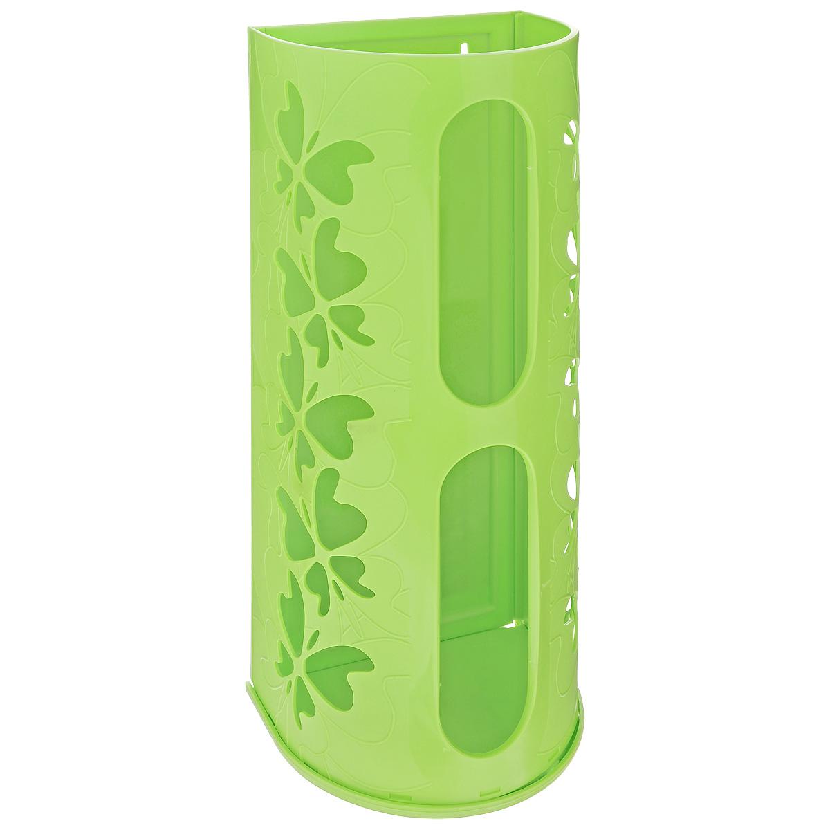 Корзина для пакетов Berossi Fly, цвет: салатовый, 16 х 13 х 37,5 смИК10338Корзина Berossi Fly выполнена из пластика и предназначена для хранения пакетов для продуктов. Изделие декорировано перфорацией в виде бабочек и крепится к стене при помощи трех саморезов (входят в комплект). Корзина легко собирается и разбирается. Имеет два отверстия, из которых удобно вынимать пакеты. Корзина Berossi Fly позволяет хранить пакеты в одном месте. Размер корзины (в собранном виде): 16 см х 13 см х 37,5 см.