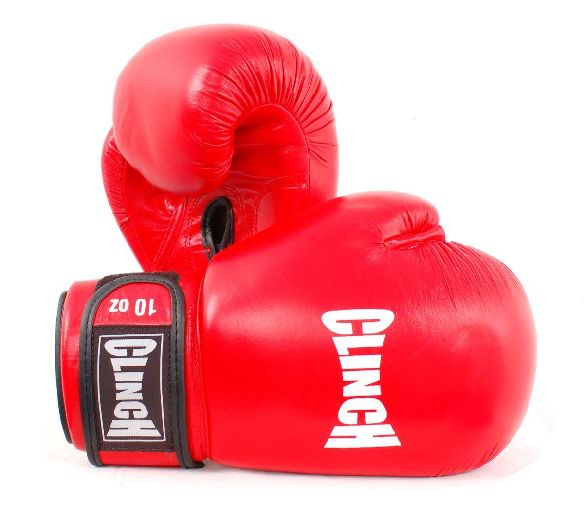 """Перчатки боксерские """"Clinch"""", цвет: красный, 10 унций. C228"""