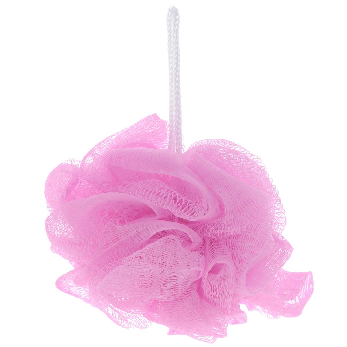 Мочалка The Body Time, цвет: розовый57198_розовыйМочалка The Body Time, выполненная из нейлона, предназначена для мягкого очищения кожи. Она станет незаменимым аксессуаром ванной комнаты. Мочалка отлично пенится, обладает легким массажным воздействием, идеально подходит для нежной и чувствительной кожи. На мочалке имеется удобная петля для подвешивания. Диаметр: 10 см.