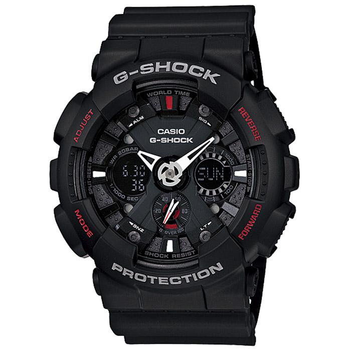 Наручные часы Casio GA-120-1AGA-120-1AЧасы водонепроницаемые и противоударные Casio GA-120.