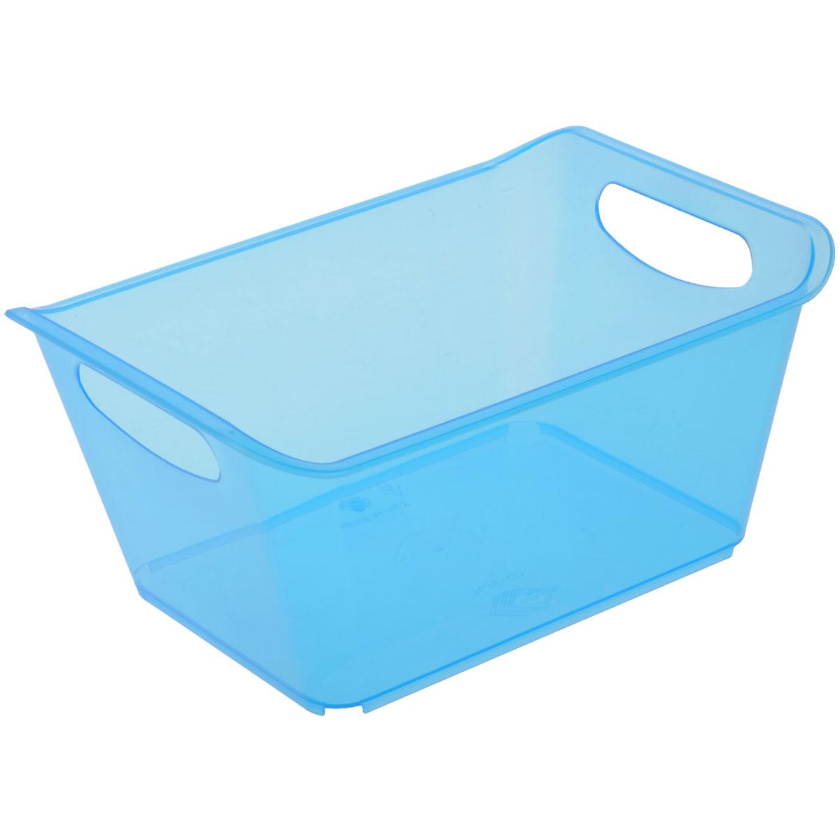 Контейнер Gensini, цвет: голубой, 1,5 л3330_голубойКонтейнер Gensini выполнен из прочного пластика. Он предназначен для хранения различных мелких вещей в ванной, на кухне, даче или гараже, исключая возможность их потери. По бокам контейнера предусмотрены две удобные ручки для его переноски. Контейнер поможет хранить все в одном месте, а также защитить вещи от пыли, грязи и влаги. Объем: 1,5 л.