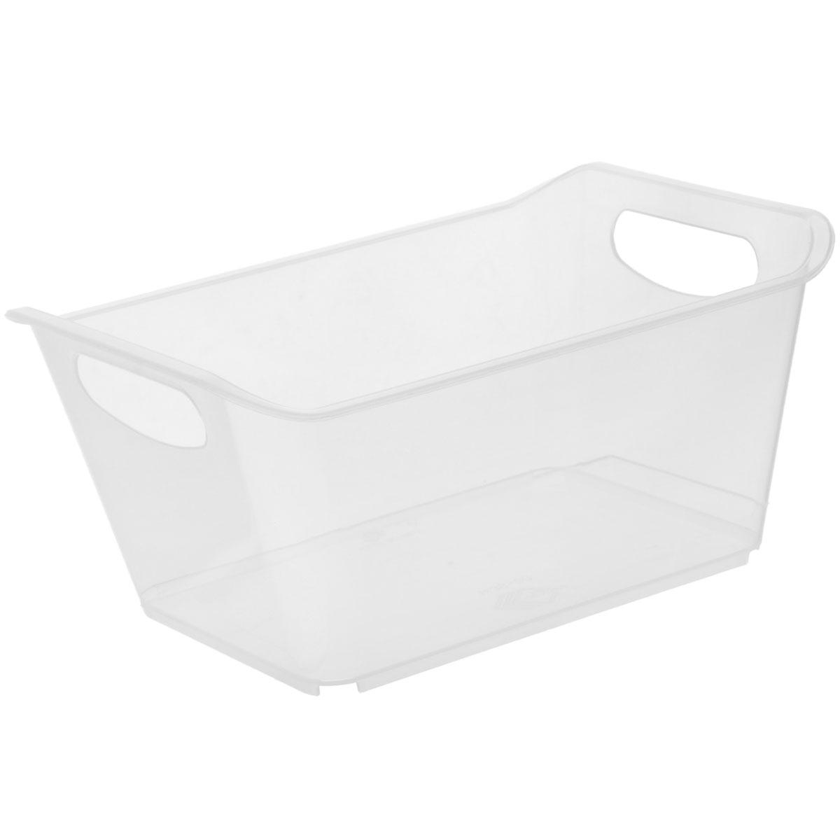 Контейнер Gensini, цвет: прозрачный, 1,5 лUP210DFКонтейнер Gensini выполнен из прочного пластика. Он предназначен для хранения различных мелких вещей в ванной, на кухне, даче или гараже, исключая возможность их потери. По бокам контейнера предусмотрены две удобные ручки для его переноски.Контейнер поможет хранить все в одном месте, а также защитить вещи от пыли, грязи и влаги. Объем: 1,5 л.