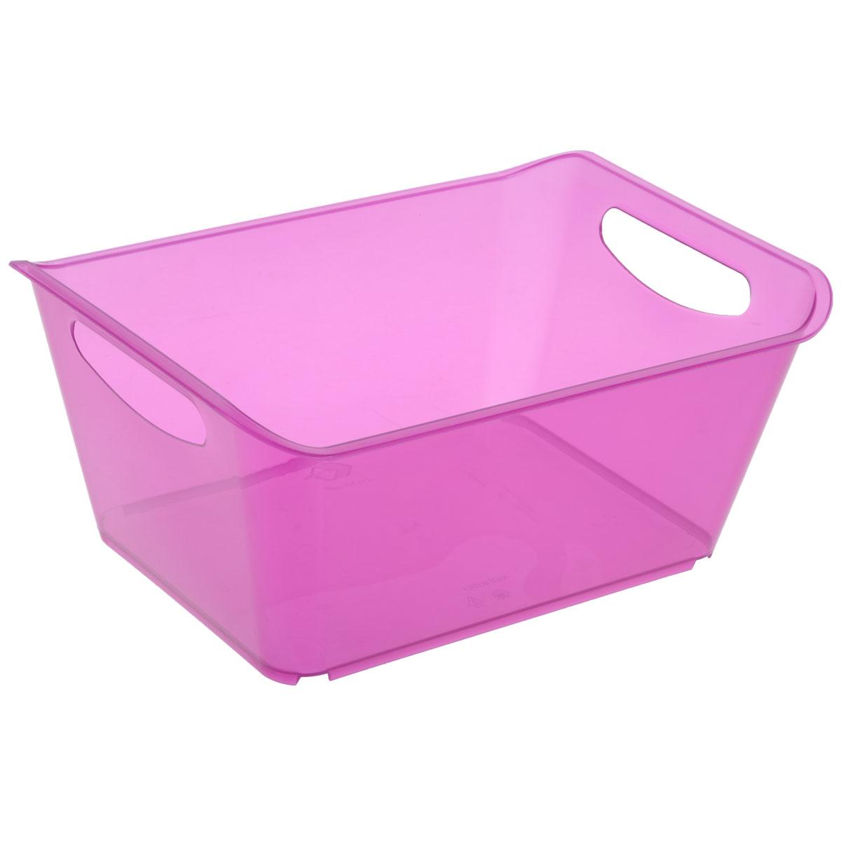 Контейнер Gensini, цвет: сиреневый, 10 л3332Контейнер Gensini выполнен из прочного пластика. Он предназначен для хранения различных мелких вещей в ванной, на кухне, даче или гараже, исключая возможность их потери. По бокам контейнера предусмотрены две удобные ручки для его переноски. Контейнер поможет хранить все в одном месте, а также защитить вещи от пыли, грязи и влаги. Объем: 10 л.