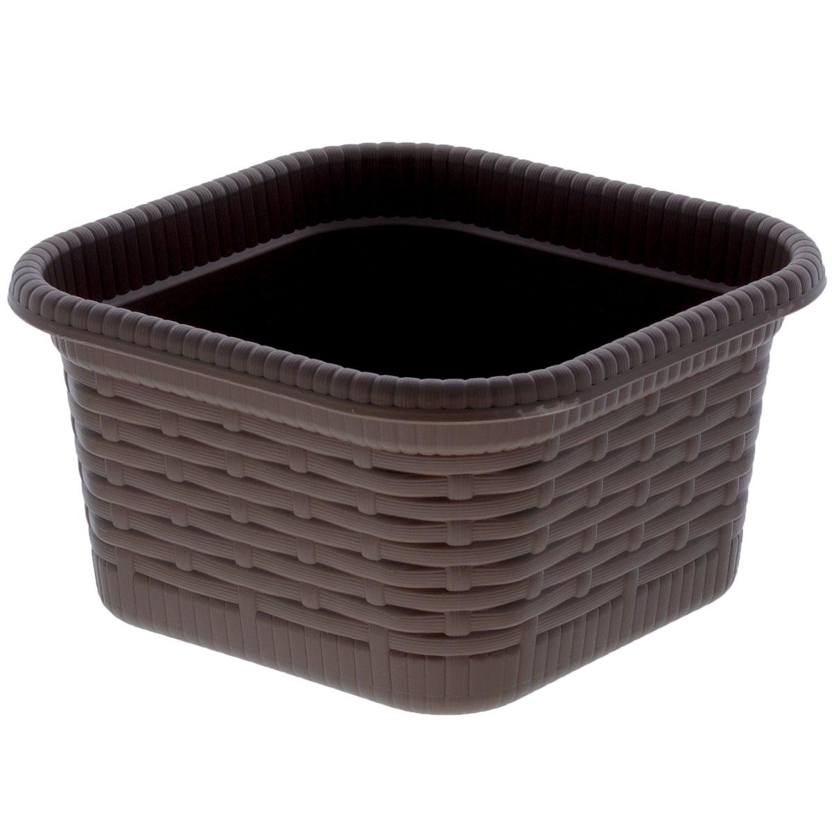 Корзина хозяйственная Gensini Rattan, цвет: кофейный, 15 х 15 х 8 см3340_коричневыйКорзина хозяйственная Gensini Rattan, выполненная из пластика, предназначена для хранения мелочей в ванной, на кухне, на даче или в гараже, исключая возможность их потери. Легкая воздушная корзина выполнена под плетенку и оснащена жесткой кромкой. Элегантный дизайн подойдет к интерьеру любого дома.