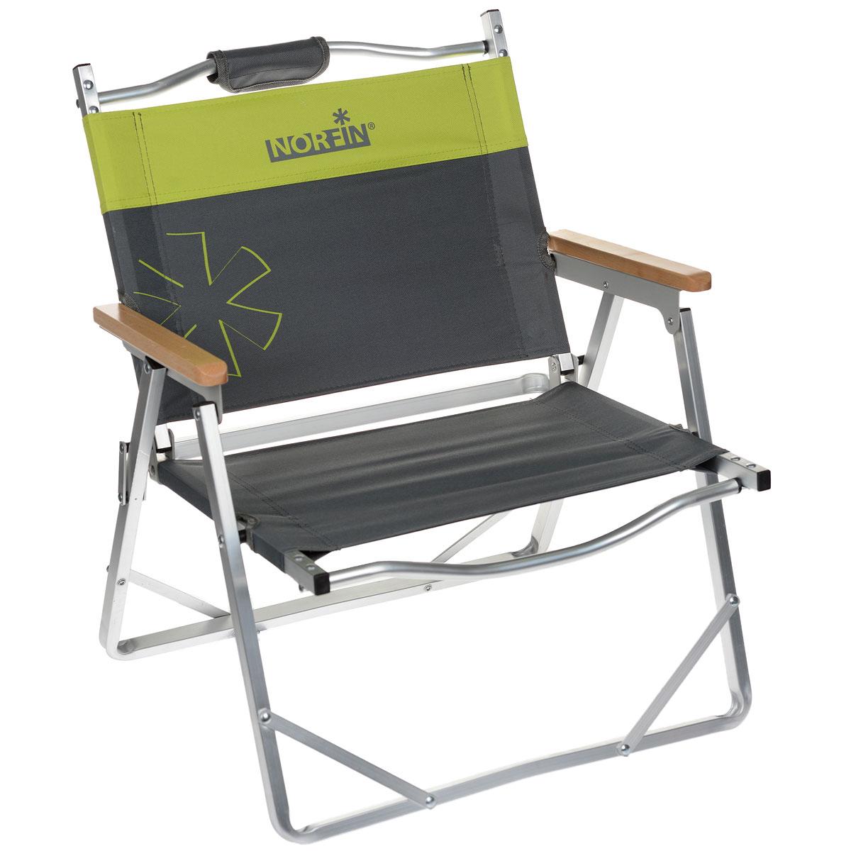 Кресло складное Norfin Alesund NF Alu, цвет: серый, желтый, 47 см х 54 см х 62 смNF-20213Невысокое складное кресло Norfin Alesund NF Alu - это незаменимый предмет походной мебели. Прочный и легкий каркас выполнен из алюминия. Оснащено деревянными подлокотниками. Легкое, очень удобно для переноски, так как в складном виде имеет ручки.