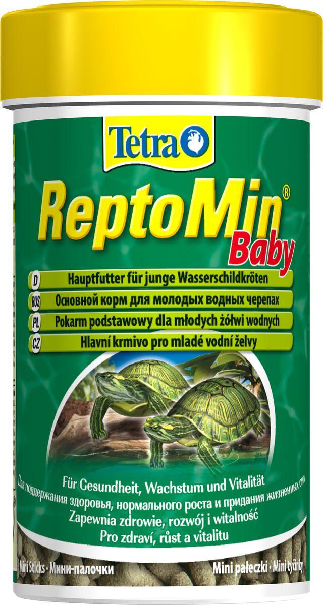 Корм Tetra ReptoMin Baby для молодых водных черепах, 100 мл0120710Tetra ReptoMin Baby - полноценный продукт для питания молодых водных черепах. Состав расфасован по 100 мл и представляет собой мини-палочки. Полноценный продукт соответствует всем потребностям в питании молодых черепах. В состав Tetra ReptoMin Baby входят важные витамины, питательные вещества, микроэлементы. Корм содержит повышенное количество кальция, что способствует формированию здорового панциря, усиленному росту костей.Корм рекомендуется давать черепахам несколько раз в течение дня небольшими порциями.Объем: 100 мл.Товар сертифицирован.