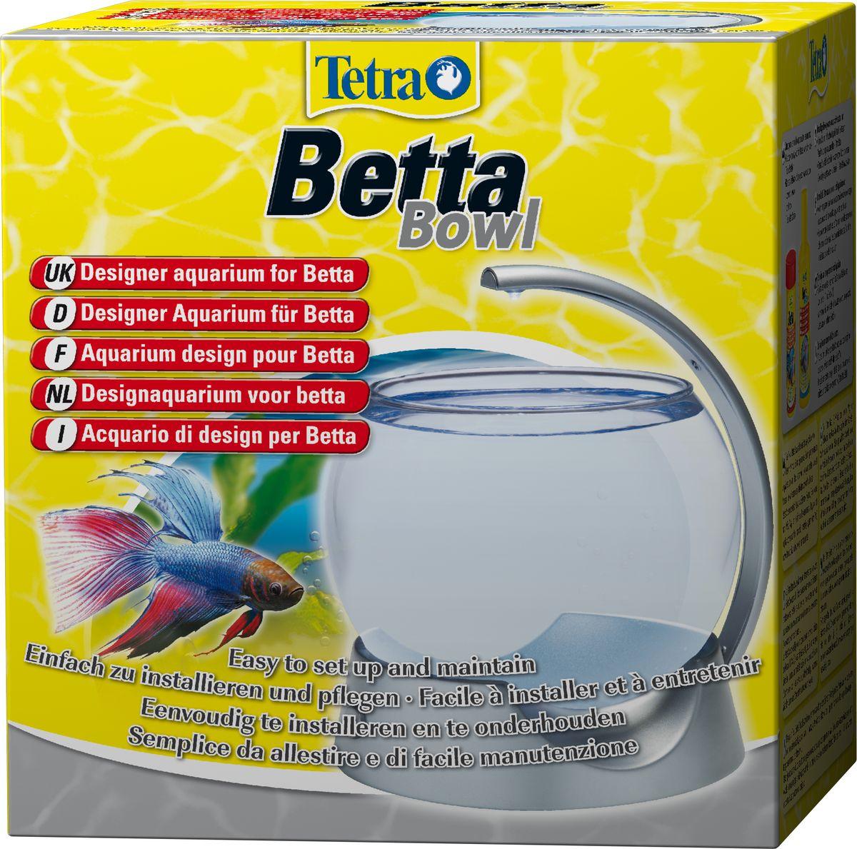 Аквариум-шар для петушков Tetra Betta Bowl с освещением, 1,8 л193949Дизайнерский аквариум современного дизайна прост в установке и использовании. Эффективное и долговечное LED освещение. Высококачественный и прочный стеклянный аквариум. Работа от батареек - для дополнительной безопасности. Объем: 1,8 л. Гарантия 2 года (не распространяется на освещение).