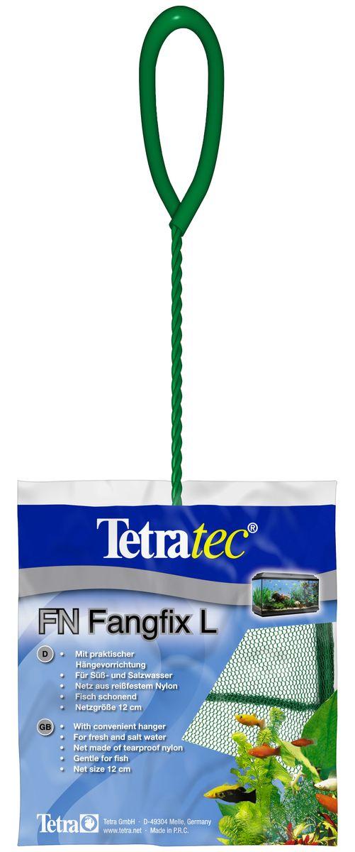 Сачок для аквариума Tetra FN L, 12 см724464Сачок Tetra предназначен для легкого извлечения рыб из аквариума. Специально покрытые пластиком черпак и ручка не ранят рыб. Сачок устойчив к коррозии, что обеспечивает долгую эксплуатацию. Прочная на разрыв сетка изготовлена из 100% нейлона. Ручка снабжена специальным крючком для подвешивания. Диаметр: 12 см.