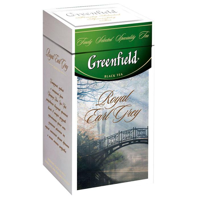 Greenfield Royal Earl Grey черный листовой чай, 125 г0120710Благородный, глубокий и насыщенный букет Greenfield Royal Earl Grey раскрывается волнующей ароматной волной, в которой причудливо переплетаются пряные ноты изысканного цейлонского чая, строгий классический аромат бергамота и тонкие оттенки цитрусовых.