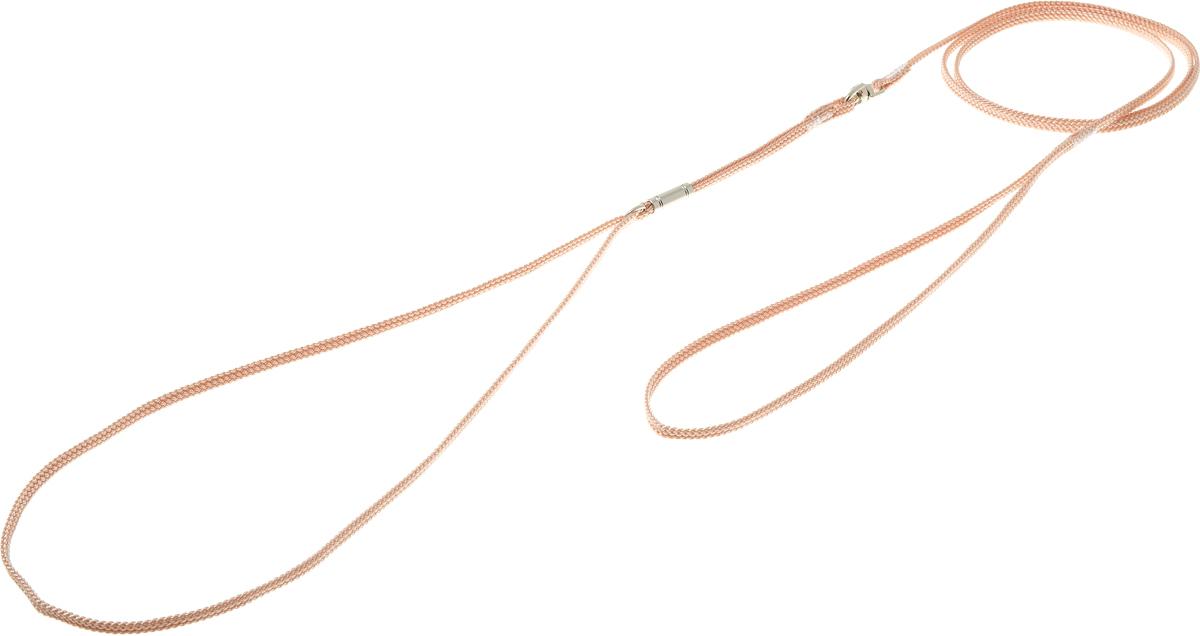 Ринговка V.I.Pet, с кольцом, цвет: бежевый. PEA-03PEA-03BEРинговка V.I.Pet - это специальный поводок, состоящий из петли с фиксатором и, собственно, поводка. Выполнена из нейлона, фурнитура - из высококачественной стали. Ринговка является самым распространенным видом амуниции для показа собаки на выставке или занятий рингдрессурой. Ринговку подбирают в тон окраса собаки, если собака пятнистая - то в тон преобладающего окраса или, наоборот, контрастную.