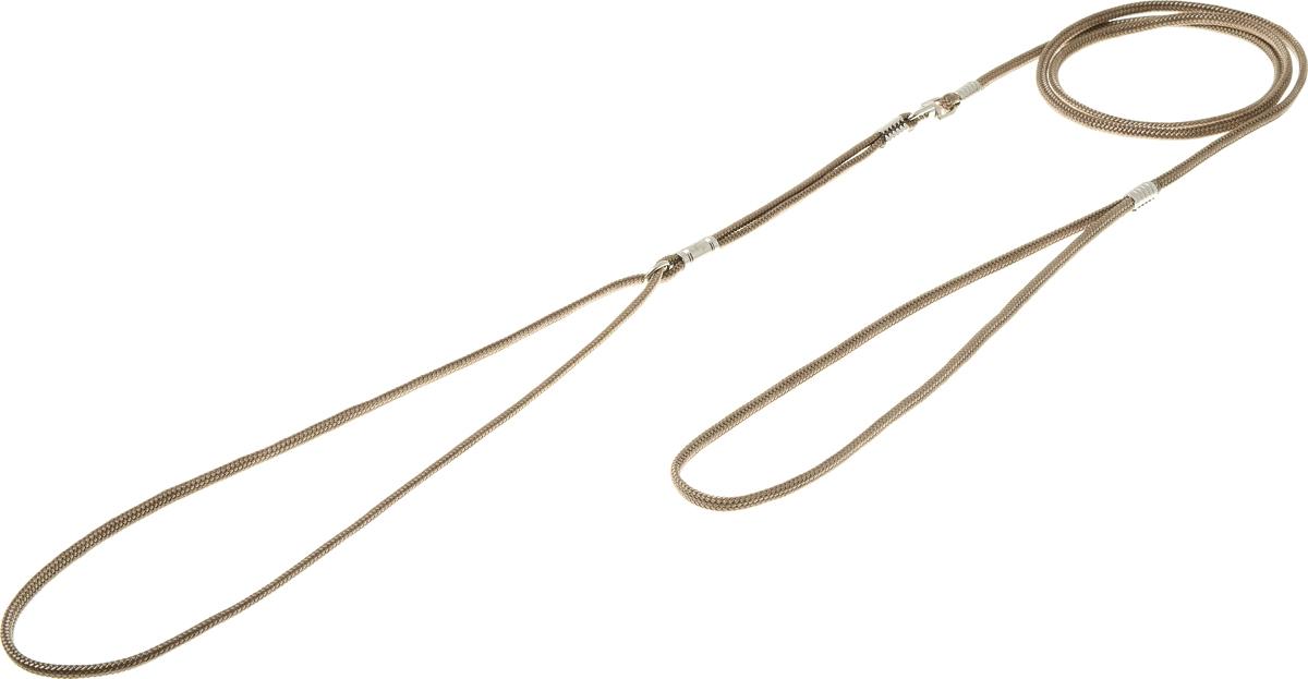 Ринговка круглая V.I.Pet, цвет: оливковый, 3 мм, 120 смPEW3 OLКруглая ринговка V.I.Pet - это поводок, состоящий из петли с фиксатором и, собственно, поводка. Выполнена из нейлона, фурнитура из высококачественной стали. Ринговка является самым распространенным видом выставочной амуниции. Диаметр: 3 мм. Длина: 120 см.