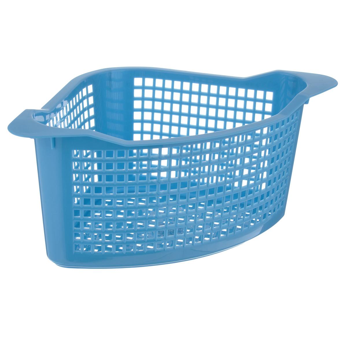 Корзина универсальная Econova, цвет: голубой, 29 см х 18,5 см х 12,5 смС12768Угловая корзина Econova выполнена из пластика и оформлена по всей поверхности перфорацией. Изделие имеет жесткую кромку. Корзина предназначена для хранения мелочей в ванной, на кухне, на даче или в гараже. Позволяет хранить мелкие вещи, исключая возможность их потери.