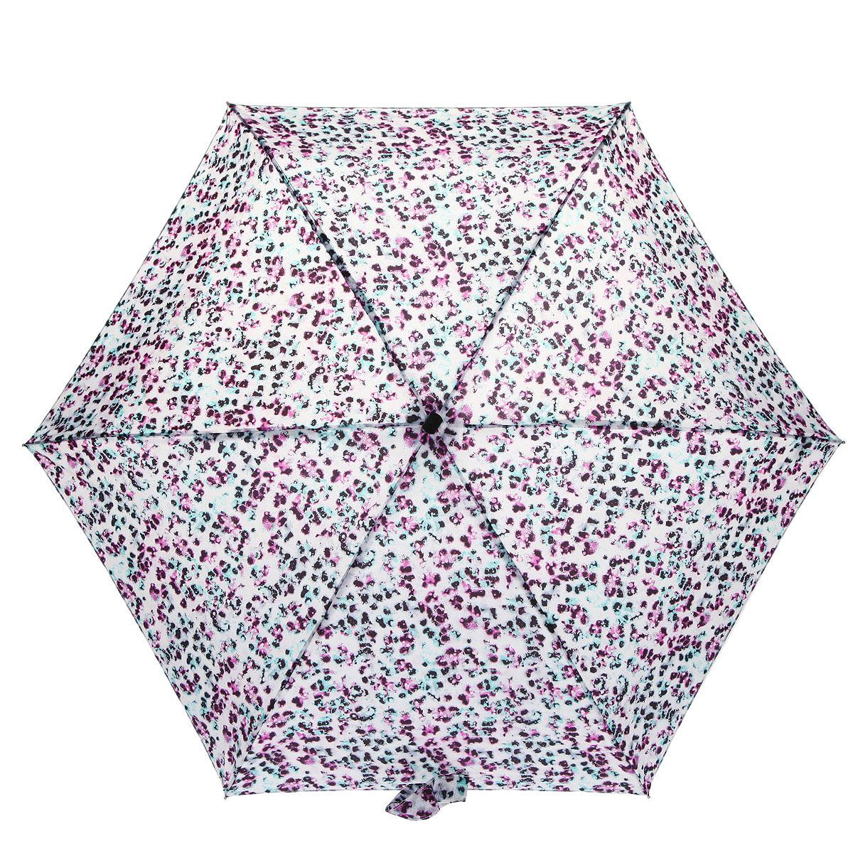 """Зонт женский Fulton """"Tiny-2. Lucid Dream"""", механический, 5 сложений. цвет: белый, розовый, черный. L501-2922"""