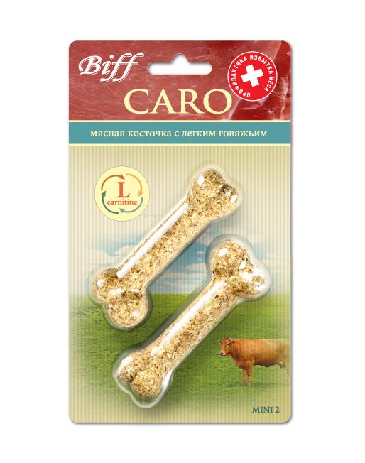 Лакомство для собак Biff Caro мясная косточка с говяжьим легким, 2 шт0120710Мясная косточка с легким говяжьим и L-карнитином - идеальное лакомство для собак, склонных к полноте, а также рекомендуется кастрированным и стерилизованным животным. L-карнитин – аминокислота, которая поддерживает нормальный уровень жиров в различных органах и тканях, уменьшает их содержание в крови, улучшает энергетический баланс в организме и повышает выносливость.Вкус: говядинаСостав: Кожа говяжья – 35%, лёгкое говяжье – 24%, кукуруза – 13%, желудок говяжий – 11%, овёс – 10%, мясо-костная мука - 7%, кишки говяжьи – 6%, L-карнитин – 3%.Условия хранения: хранить в сухом прохладном месте.Товар сертифицирован.