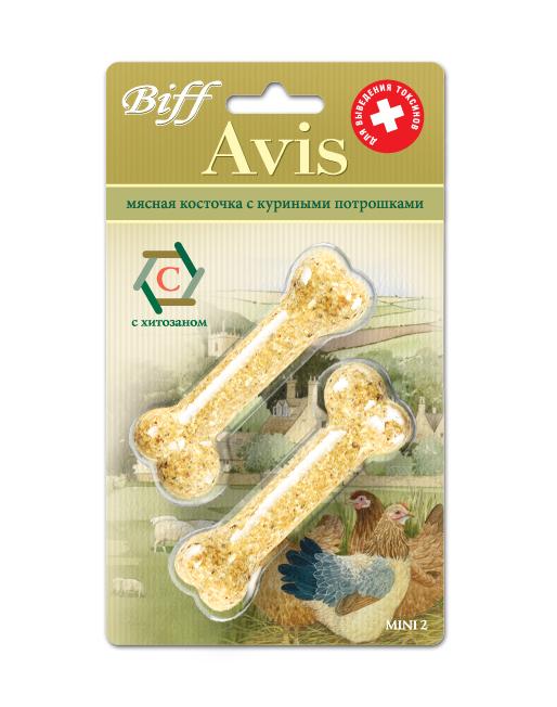 Лакомство для собак Biff Avis, мясная косточка с куриными потрошками, 2 шт1810Мясная косточка с куриными потрошками и хитозаном - идеальное лакомство для выведения токсинов из организма Вашего питомца, а также является источником легкоусвояемых белков, витаминов, минеральных веществ. Хитозан - натуральное биологически активное вещество, регулирующее большинство процессов в организме, он быстро впитывает и выводит из организма любые токсичные вещества, а главное, обладает способностью подавлять раковые клетки. Состав: Кожа говяжья - 35%, потроха куриные - 15%, кукуруза - 13%, желудок говяжий - 11%, гречка - 10%, мясокостная мука - 7%, кишки говяжьи - 6%, хитозан - 3%. Условия хранения: хранить в сухом прохладном месте. Товар сертифицирован.