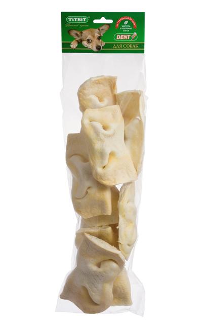 Лакомство для собак Titbit, нос телячий, 7 шт2633Упаковка содержит 7 высушенных телячьих носа. Высокое содержание белка, хрящевой и соединительной ткани. Помогает развивать зубочелюстной аполипропиленовый пакетарат вашей собаки, укрепляет десны, очищает зубы, питает хрящевую ткань суставов. На некоторое время успокаивает даже очень активных собак, позволяя вам заняться накопившимися делами. Состав: Высушенный телячий нос.
